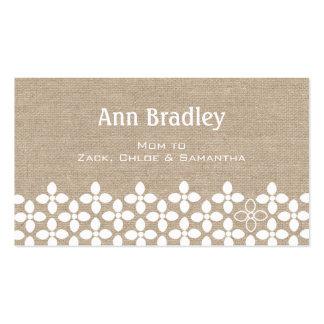 Cartão de visita moderno das mamães da flor branca