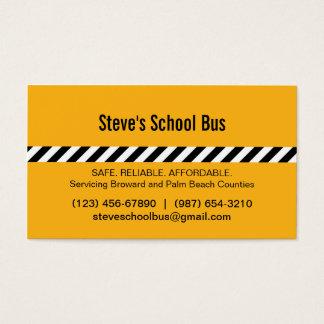 Cartão de visita moderno do auto escolar das