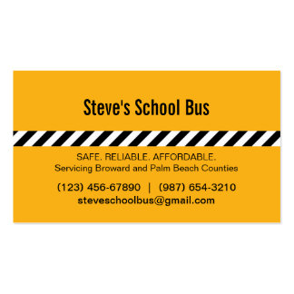Cartão de visita moderno do auto escolar das listr