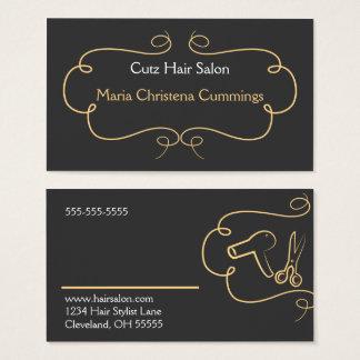 Cartão de visita moderno do cabeleireiro