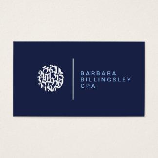 Cartão de visita moderno do contador do logotipo