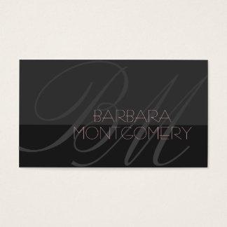 Cartão de visita moderno do desenhador de moda do
