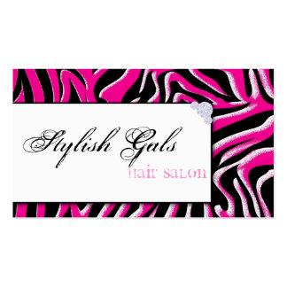 Cartão de visita moderno do impressão cor-de-rosa