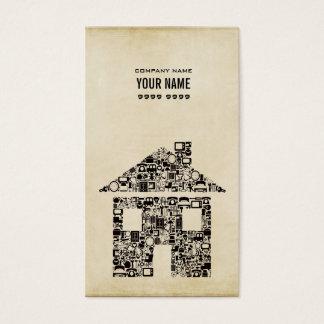 Cartão de visita moderno do modelo da construção