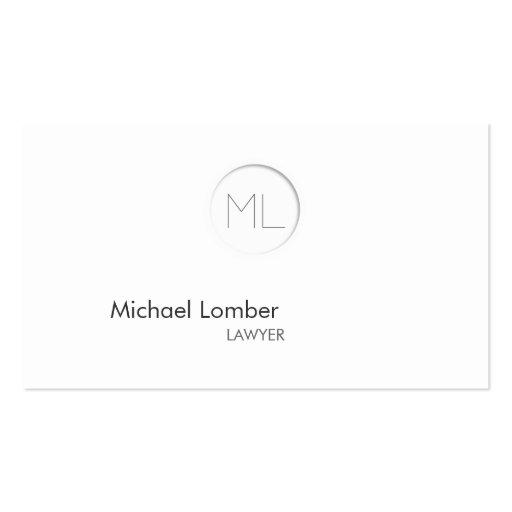 Cartão de visita moderno do monograma de Minimalis
