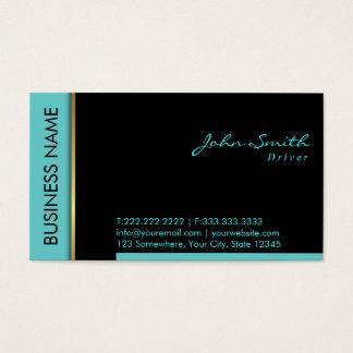 Cartão de visita moderno do motorista da beira da