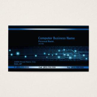 Cartão de visita moderno do negócio de computador