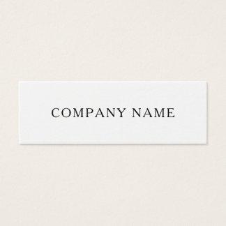 Cartão de visita moderno do nome da empresa