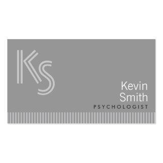 Cartão de visita moderno do psicólogo do monograma