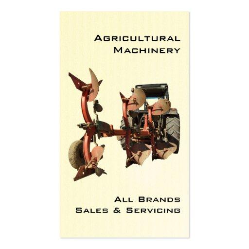 Cartão de visita moderno do trator e do arado
