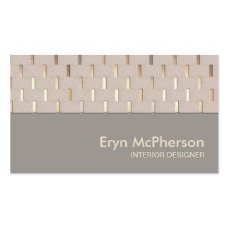 Cartão de visita moderno do zen elegante da