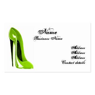 Cartão de visita moderno dos calçados do estilete