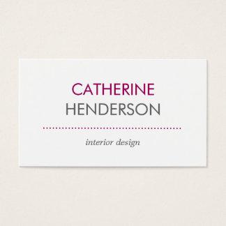 Cartão de visita moderno dos tons - rosa