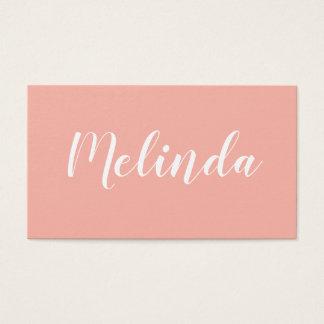 Cartão de visita moderno minimalista elegante na