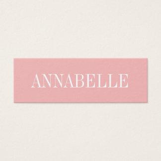 Cartão de visita moderno na moda minimalista