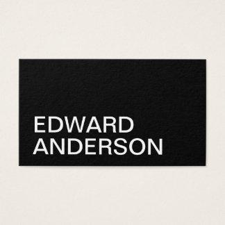 Cartão de visita moderno preto e branco