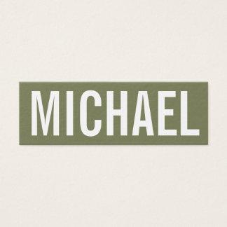 Cartão de visita moderno profissional minimalista