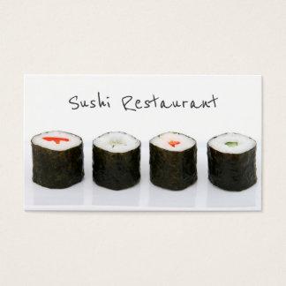 Cartão de visita moderno simples do sushi