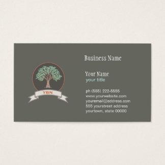 Cartão de visita Monogrammed do logotipo da árvore