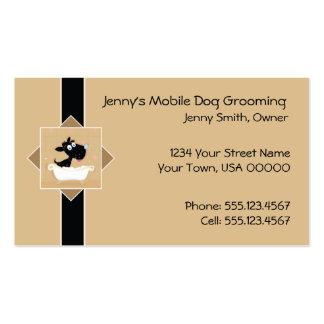 Cartão de visita móvel bonito da preparação do cão