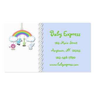 Cartão de visita móvel do bebê da selva