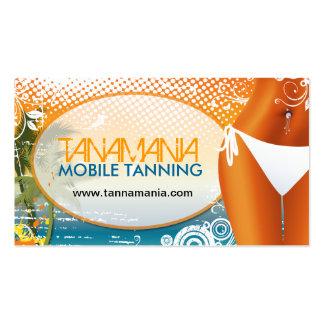 Cartão de visita móvel do salão de beleza Tanning