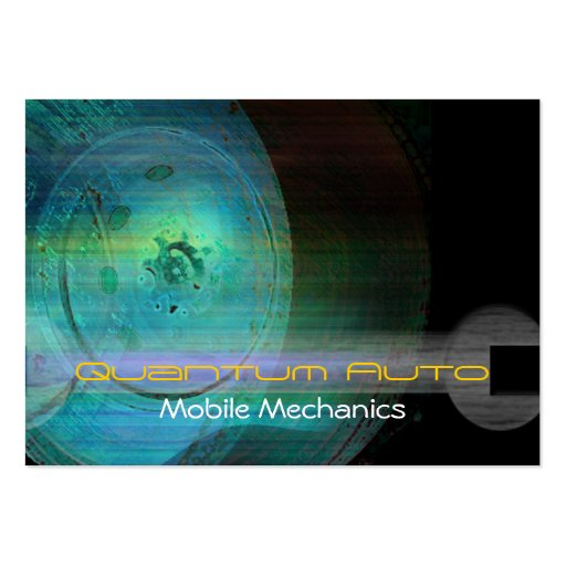 Cartão de visita móvel dos mecânicos do quantum au