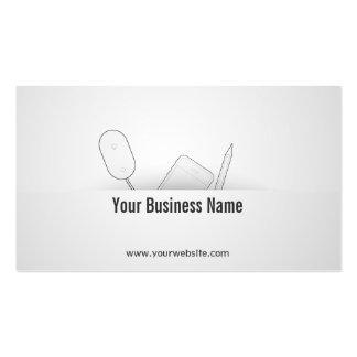 Cartão de visita móvel elegante do colaborador de