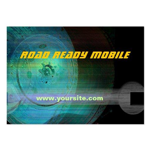 Cartão de visita móvel pronto da estrada