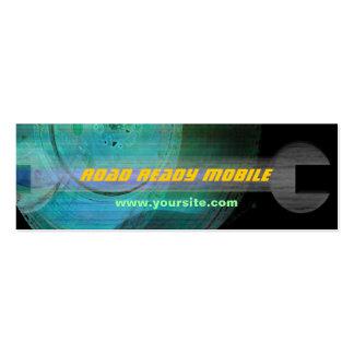 Cartão de visita móvel pronto do mecânico da estra