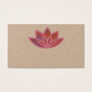 Cartão de visita multicolorido cor-de-rosa de