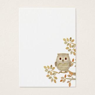 Cartão de visita musical da coruja da árvore