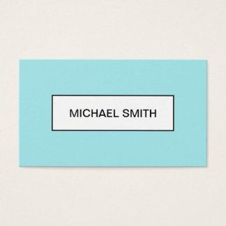 Cartão de visita na moda azul pastel moderno