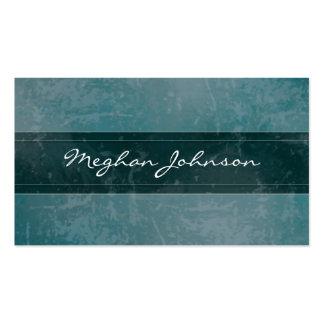 Cartão de visita na moda da cerceta de mármore do