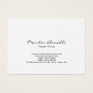 Cartão de visita na moda de linho moderno carnudo