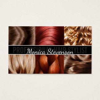 Cartão de visita na moda do cabeleireiro do