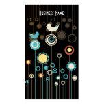 Cartão de visita na moda do design floral