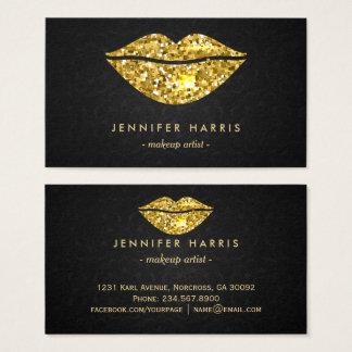 Cartão de visita na moda do maquilhador dos lábios