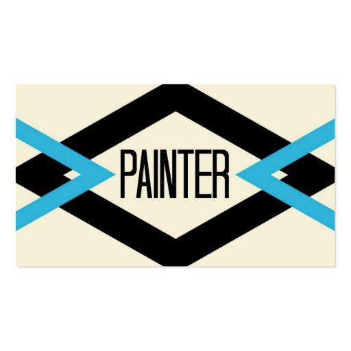 Cartão de visita na moda do pintor