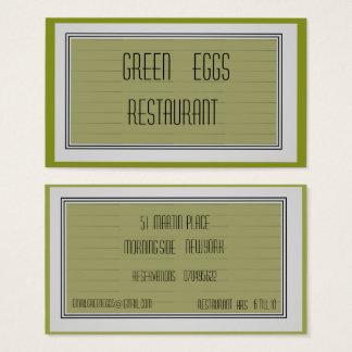 Cartão de visita na moda do >Professional do verde