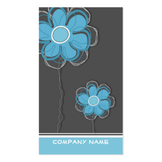 Cartão de visita na moda floral