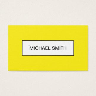 Cartão de visita na moda minimalista amarelo