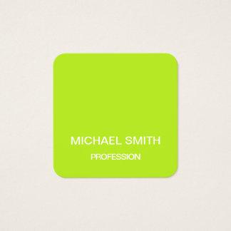 Cartão de visita na moda minimalista do verde