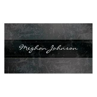 Cartão de visita na moda preto de mármore do