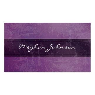 Cartão de visita na moda roxo de mármore do Grunge