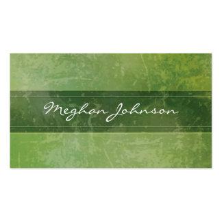 Cartão de visita na moda verde de mármore do