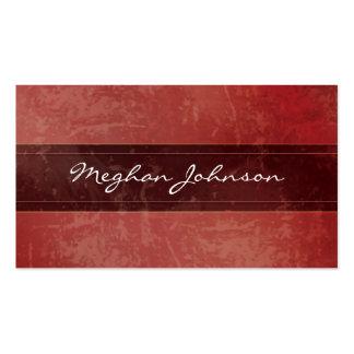 Cartão de visita na moda vermelho de mármore do