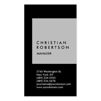 Cartão de visita na moda vertical do preto do cinz