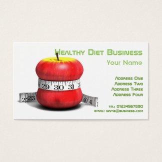 Cartão de visita natural saudável da dieta