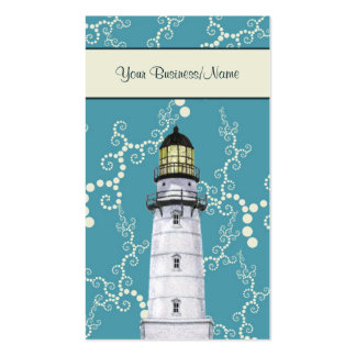 Cartão de visita náutico de Litghthouse da água lu